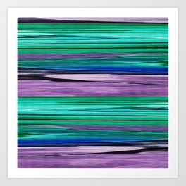Abstract pattern . Lilac blue turquoise . Art Print