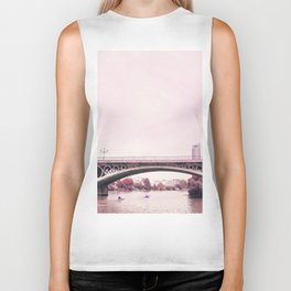 Pink mood at Triana Bridge Biker Tank
