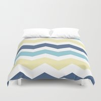 eevee Duvet Covers featuring Vaporeon by Halamo