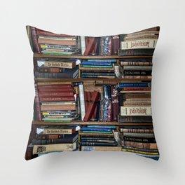 Books on a Shelf Throw Pillow