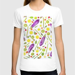 Fruits and vegetables pattern (29) T-shirt