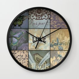 Inspirational 18 patch in Blue Wall Clock