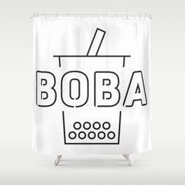 Boba Bubble Milk Tea Shower Curtain
