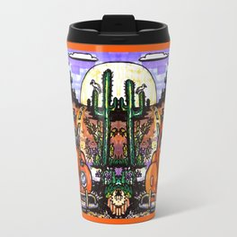 VW Bug Back in the desert Travel Mug
