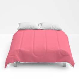 Watermelon Pink Simple Solid Color All Over Print Comforters
