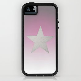 Star  Glitter effect  Gray Pink White iPhone Case