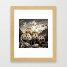 Mushrom Village Framed Art Print