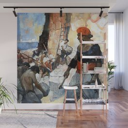 """Tripoli Pirates"" by Frank Schoonover Wall Mural"