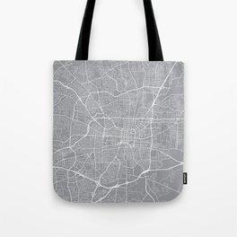 Greensboro Map, North Carolina USA - Pewter Tote Bag