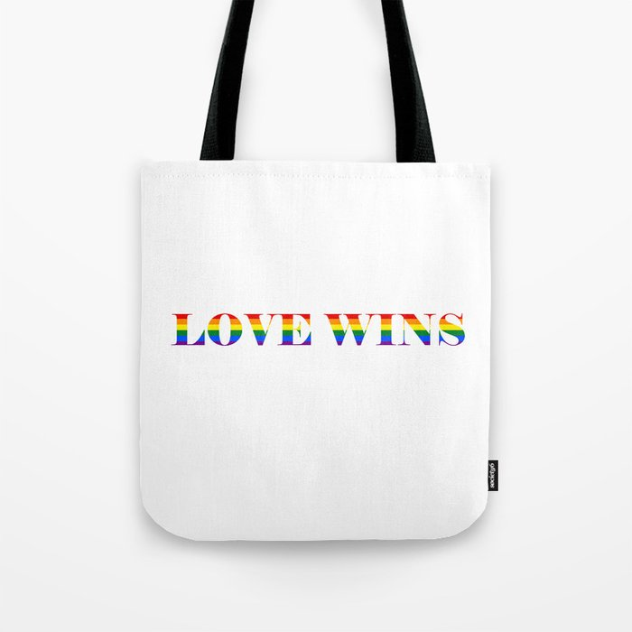 Love Wins White Background Tote Bag