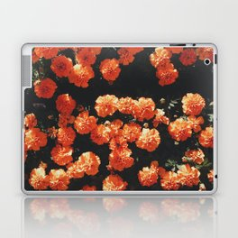 Orange flower fleurs Laptop & iPad Skin