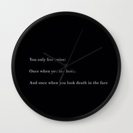 You Only Live Twice Wall Clock