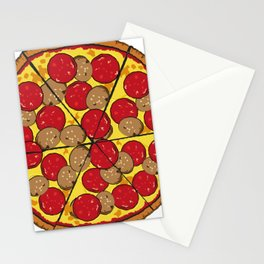 great pizza illustrated with peperoni Stationery Cards