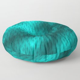 Line texture of light blue oblique dashes with a bright intersection on a luminous charcoal. Floor Pillow