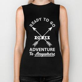 Ready to Go on an Adventure Graphic Arrow T-shirt Biker Tank