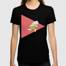 Running Polar Bear Triangle T-shirt