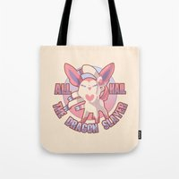 sylveon Tote Bags featuring All Hail Sylveon by Solis
