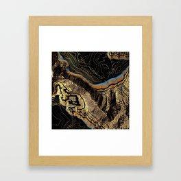 Golden Canyons Framed Art Print