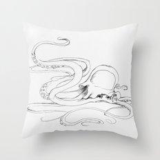 Jellyfish-man Throw Pillow