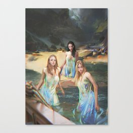 """Sirens (""""Charm of of the Ancient Enchantress"""" Series) Canvas Print"""