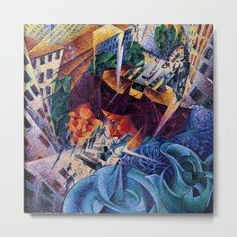 Visioni simultanee - Simultaneous Vision by Umberto Boccioni Metal Print