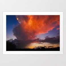 Before The End Of The Storm Art Print