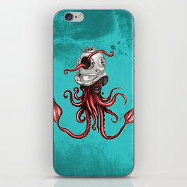 Squid with Diving Helmet iPhone Skin