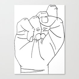sign Language S Canvas Print