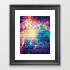 Galaxy Tribal Framed Art Print