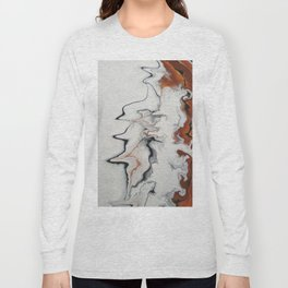Unique Fluid Abstract Long Sleeve T-shirt