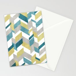 Bright geometrical pattern Stationery Cards