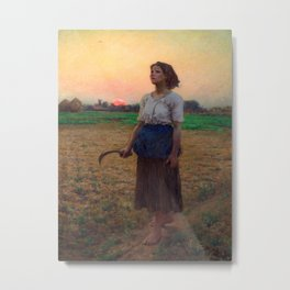 Jules Breton - Song of the Lark Metal Print