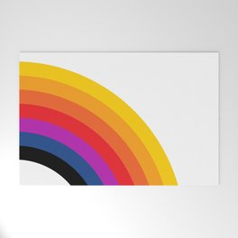 Retro Rainbow - Right Welcome Mat