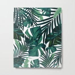 Tropical Jungle Leaves Pattern #1 #tropical #decor #art #society6 Metal Print