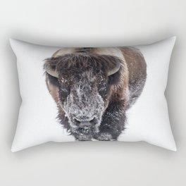 Yellowstone National Park: Lone Bull Bison Rectangular Pillow