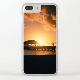 Hanalei Pier at Sunset Clear iPhone Case
