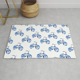 Blue bicycle Rug