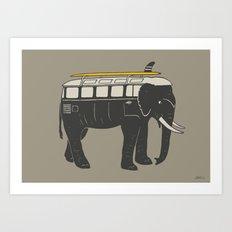 ElephantMobile Art Print
