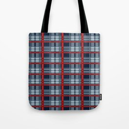 Red Line White And Red Lumberjack Flannel Pattern Tote Bag