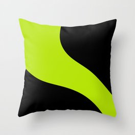 Simple Waves - Lime Green Throw Pillow