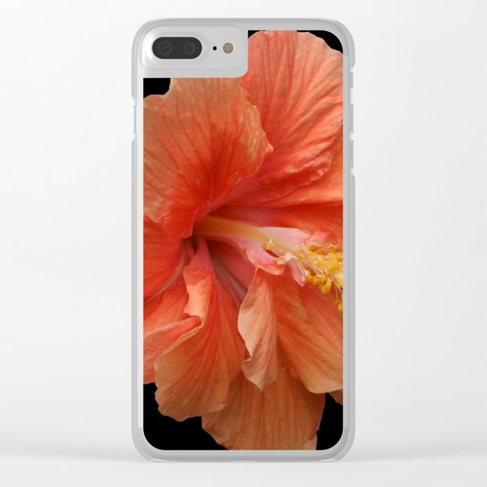 Double Orange Hibiscus DPG160419 Clear iPhone Case