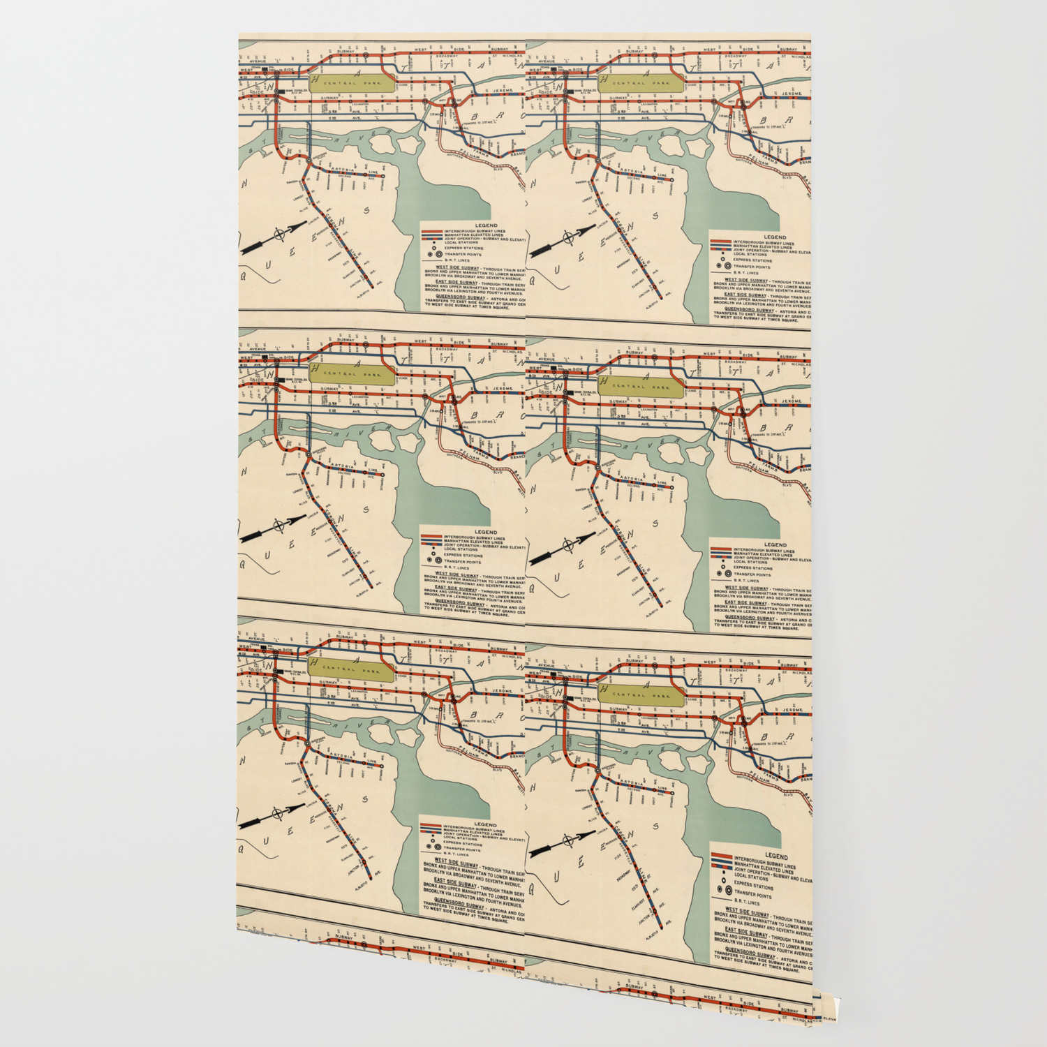 Upper West Side Subway Map.Vintage Nyc Subway Map 1918 Wallpaper
