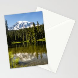 Mt Rainier from Reflection Lake, No. 3 Stationery Cards