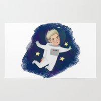 niall Area & Throw Rugs featuring Space Niall by Ashley R. Guillory