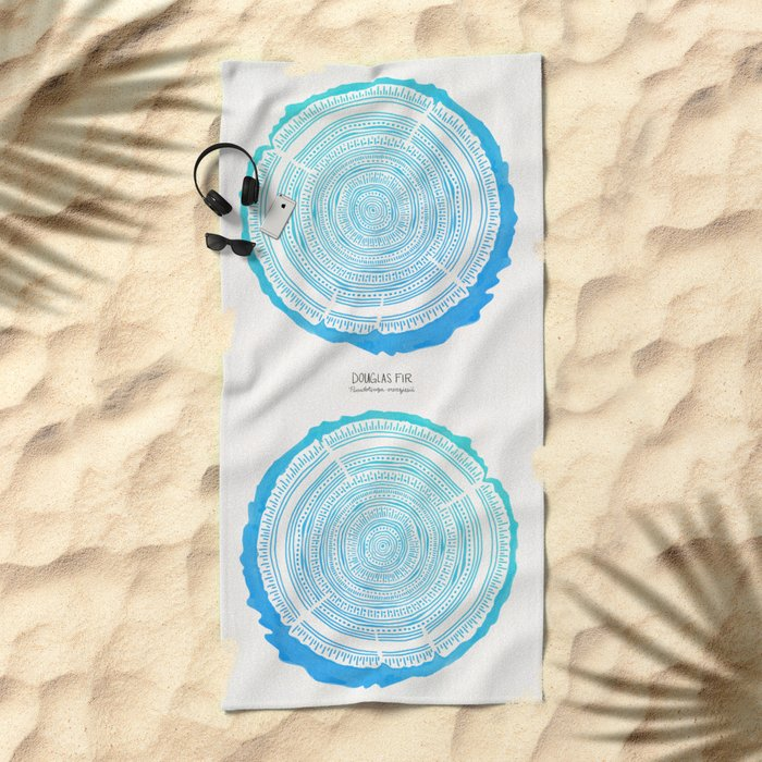 Douglas Fir – Blue Ombré Beach Towel
