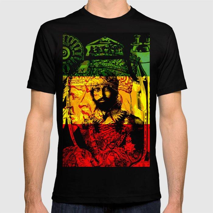 2db8a86824b Haile Selassie Lion of Judah T-shirt by rasta