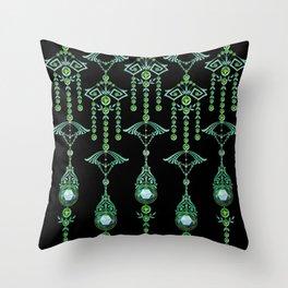 CASTELLINA JEWELS: BLUE GREEN DREAM Throw Pillow