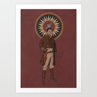 captain Art Prints featuring Captain by mycolour