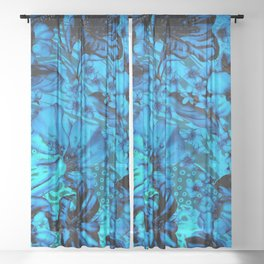 Days Blue By Sheer Curtain