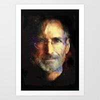 steve jobs Art Prints featuring Steve Jobs by turksworks